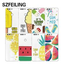 phone case for Huawei honor 8 Soft TPU 3D Painting Colorful Transparent Back cover Super Thin Cute mobile shell For Honor 8 case(China)