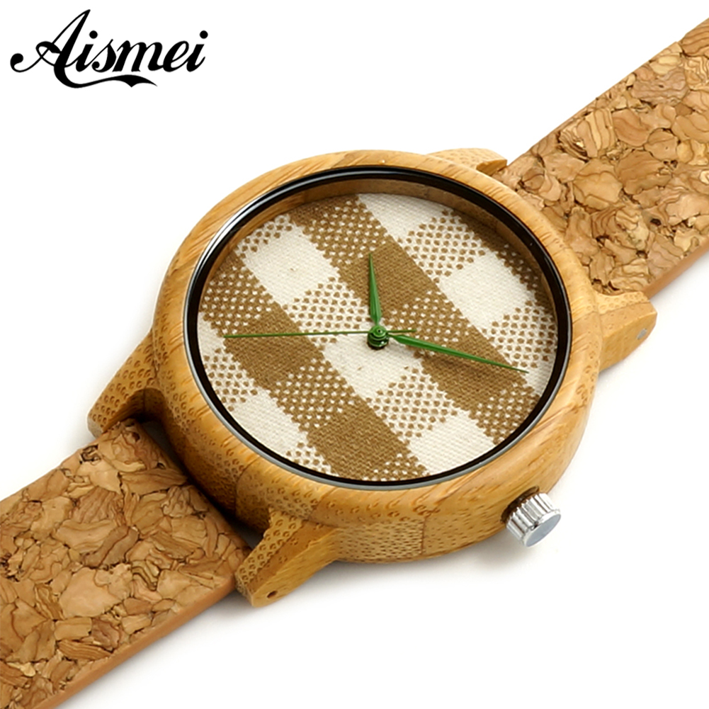 Women Mens Watches Luxury Wood Watches fabric face design With Real Leather Bands in Gift Box relogio masculino relojes mujer<br><br>Aliexpress