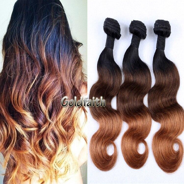 7A Ombre Brazilian Hair Weaves Brown Blond 12~26 300g 100% Brazilian Virgin Hair Body Wave Ombre Hair Extensions Weaves<br><br>Aliexpress