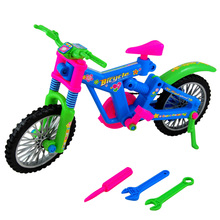 Educational Plastic Vehicle Toy Simulation Removable Bicycle DIY Assembly Bike Plastic Mini Bicycle Model Gift FCI#