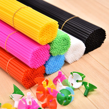 New High quality balloon stick 100 pcs/lot white black 8 color 27cm balloons PVC rods for support balloon stick(China)