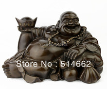 FENGSHUI BRASS LAUGHING BUDDHA FIGURINES/ BUDDHA Sculptures/ BUDDHA STATUES(China)