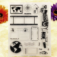 Labels Discoveries CARD POSTAL Scrapbook DIY photo cards account rubber stamp clear stamp transparent stamp 14x18cm AP6101404(China)