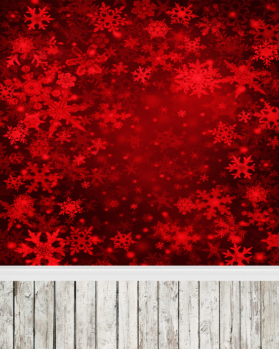 Customize red snowflake and christmas photography backdrops vinyl digital cloth for photo studio background L-887<br>