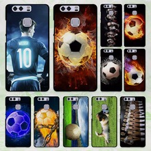 Fire Football Soccer 01 design hard black Case Cover for Huawei P8 P9 lite P9 Plus P7 Mate9 Mate8 Mate s
