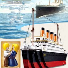 Lightaling Building Blocks Toy 1021PCS Cruise RMS Titanic Ship Boat 3D Model Educational Gift Toy