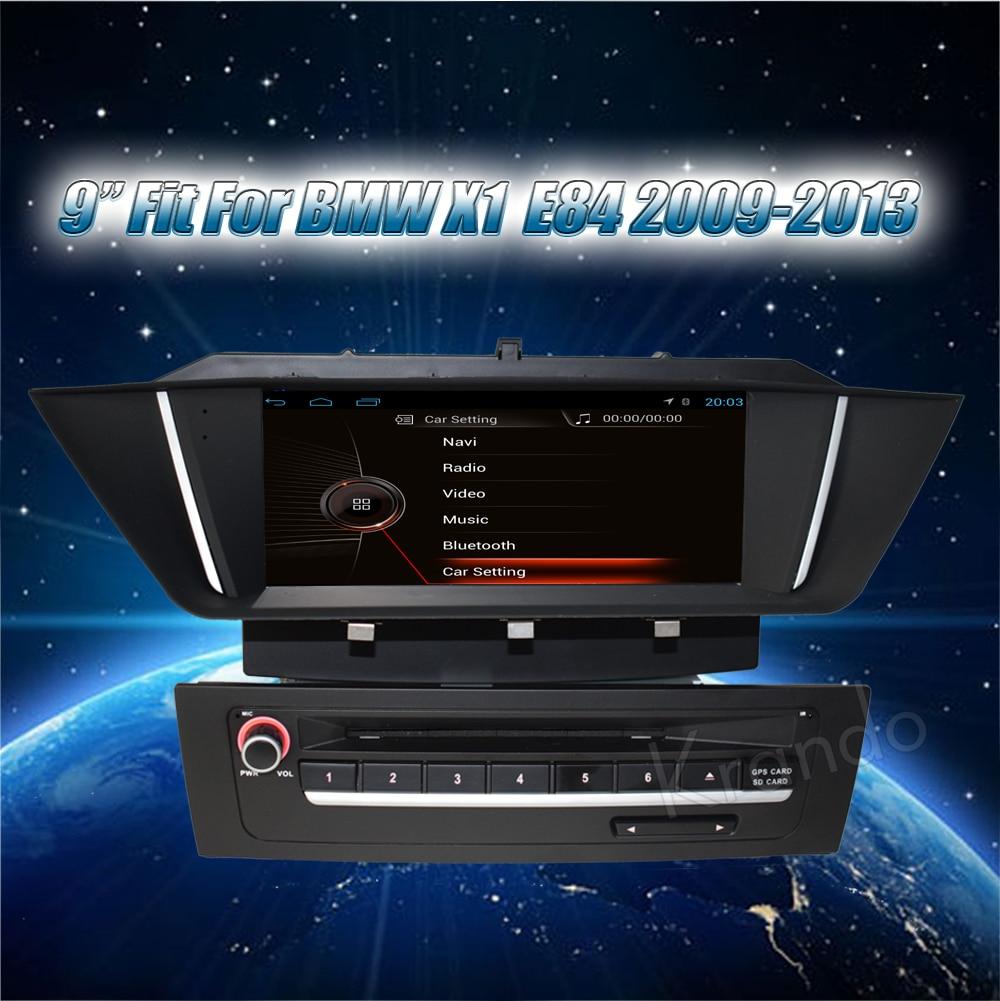 Krando bmw X1 E84 2009-2013 Android car radio gps dvd player navigation multimedia system (1)