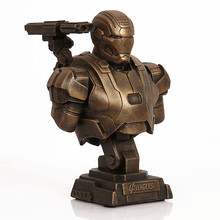 23cm 1/4 Iron Man PVC Mk43 Bust Mk7 Model Imitation Copper Statue Ornaments Gift Toy Figures