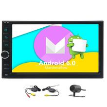 Backup Camera +2 Din Android 6.0 in Dash Car no-dvd Stereo Car GPS Navigation Head Unit TWO 2 Din FM/AM/RDS Radio GPS Map Wifi