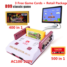 Subor D99 Video Game 8 bit Console Classic Family TV video games consoles player with free 400 IN1+ 500 IN1 Games Cards