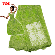 5yards/lot 2017 High quality nigerian french lace african lace fabric for party dress  FC1628-TFO ,Africa lace fabric
