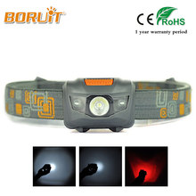 BORUIT MINI LED 4 Modes High power 300LM Headlight Head Torch Headlamp Red Light Head Lamp Lantern For Hunting Fishing Flashlamp