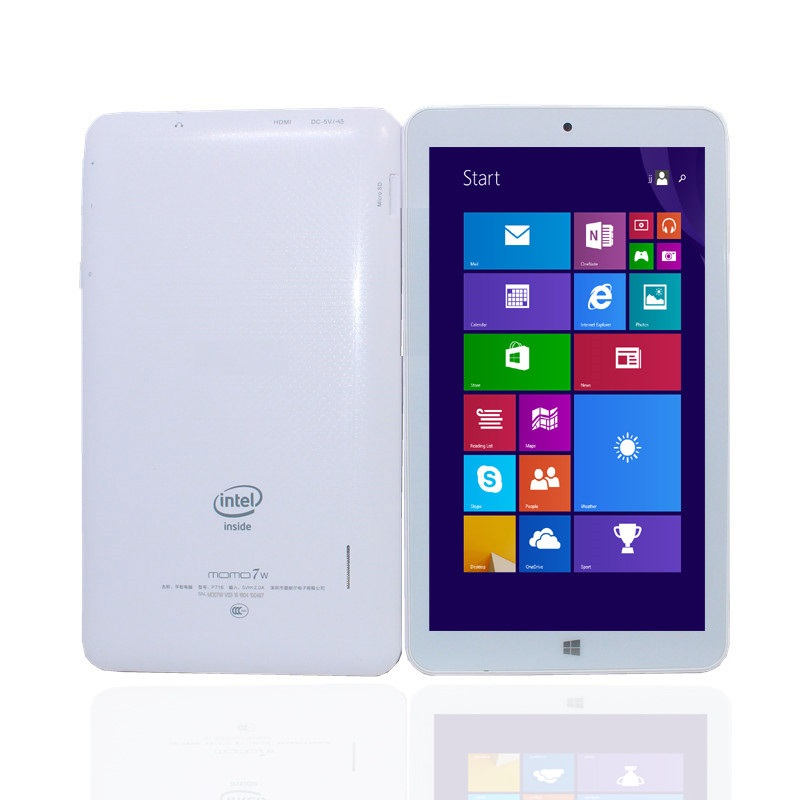 Glavey 7inch MOMO7W Tablet PC Window 10 1GB+16GB Quad core intel Atom Z3735G 1024x600pixes Bluetooth WIFI HDMI White Tablet(China)