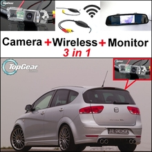 3 in1 Special Rear View Wifi Camera + Wireless Receiver + Mirror Monitor Back Up Parking System For SEAT Altea XL Stationwagon(China)