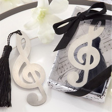 fashion musical note bookmark for wedding decoration baptism favors and gifts recuerdos para bautizo baby shower Free shipping(China)