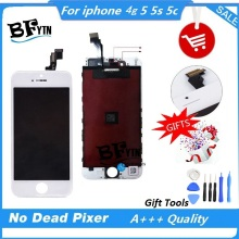 Black and White Pantalla LCD for iPhone 5s Lcd Screen for iPhone 5 5c 5S LCD Display Screen Digitizer Assembly Replacement BFYTN