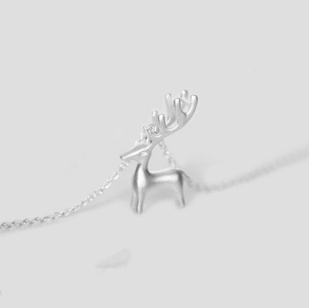 JEXXI-Simple-Cute-925-Sterling-Silver-Elk-Necklace-for-Women-3D-Animal-Pendant-Choker-Necklaces-Summer (1)