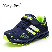 Hot 2017 New Brand Children Sport Shoe Boys Girls Summer Running Sneakers Black Blue Kd Walking Shoes Brand Kids Trainers(China)