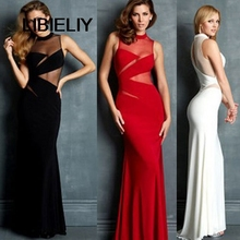 New Women Clothing Fashion Party Club Dress Sexy Slim Hip Gauze Cotton Patchwork Long Dresses Formal Celebrity Woman Casual Dres