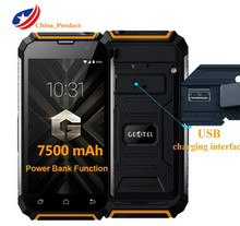 Geotel G1 7500mAh Power Bank Mobile Phone Android 7.0 MTK6580A Quad Core 3G WCDMA Phone 2GB RAM 16GB ROM Cell Phones(China)