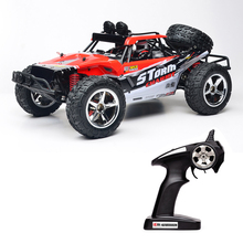 1:12 Scale 4WD RC Car High Speed SUV with LED 2.4GHz 50m Remote Control 1500mAh Battery Powerful Electric Toy Race Car(China)