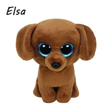 Original Ty Beanie Boos Big Eyes Plush Toy Doll Brown Dog TY Baby Kids Gift 10-15 cm WJ159