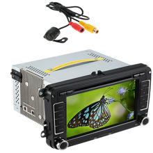 7 Inch Touch Screen Car DVD Player PC Stereo Head Unit GPS Navigation Bluetooth Multimedia for VW Europe Map +Free Card