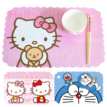 4 Pieces/set 45x28.5cm High Quality PVC Hello Kitty Placemats Bar Restaurant Cartoon Modern Europe Plastic Table Mat Wedding