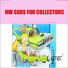 Hot Sale 1 64 Hot Simpsons The Homer Green Cars Wheels Metal Alloy Model For Colecter Wholesale Metal Cars For Car Lovers(China)