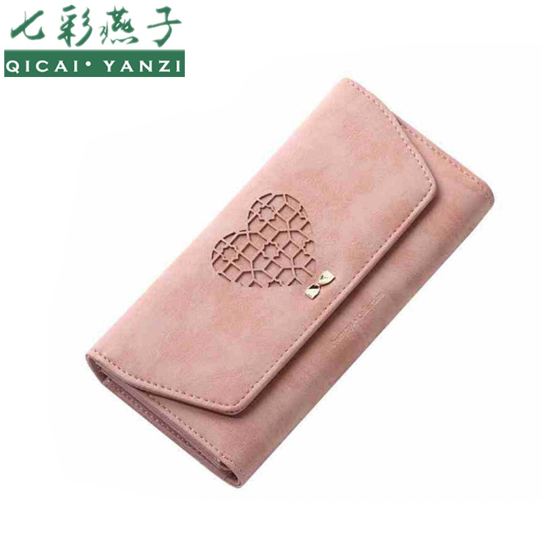QICAI.YANZI Women Candy Color Long Wallets Mujer L...