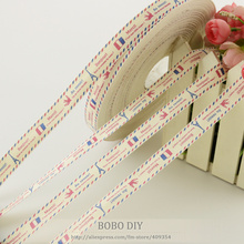 New arrivals mini.order is $5 (mix order) 1.5CM width Zakka cotton ribbons Eiffel tower label BOBO DIY accessory free shipping