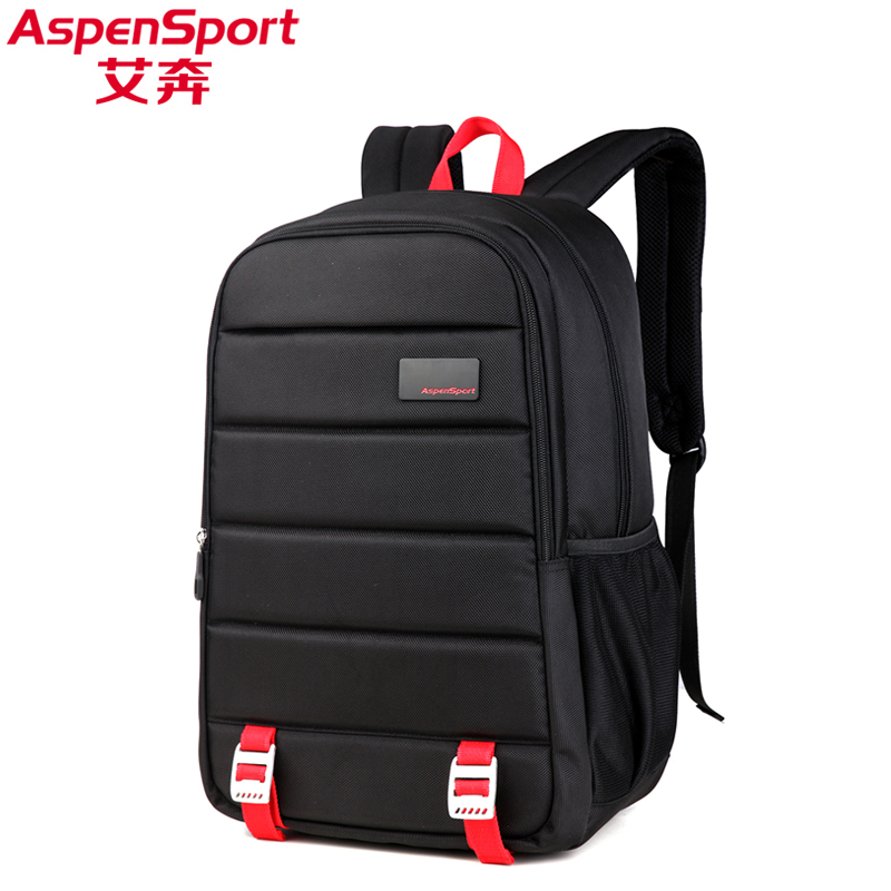 Aspensport Unisex Fashion school Backpack Men High Quality 15.6 Laptop Bags Women Travel Notebook Computer Bags Male Black Bag<br>