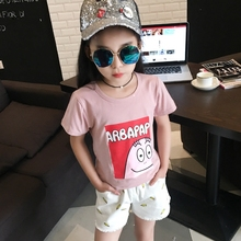 4 5 6 7 8 9 10 11 12 13t Baby T Shirt Kids Clothes Summer Girls Tshirt Child Clothing Childrens Tops Print School Tee Shirts