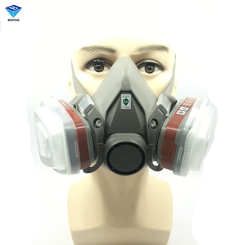 BINYEAE NEW 7PCS 6200 6001+2 Pcs Gift Filter Suit Respirator Painting Spraying Face Gas Mask 5N11 501 Medium Dust Mask