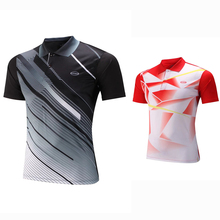 New Sportswear Quick Dry breathable badminton POLO shirt Jerseys,Women/Men table tennis shirt team game short sleeve T Shirts(China)