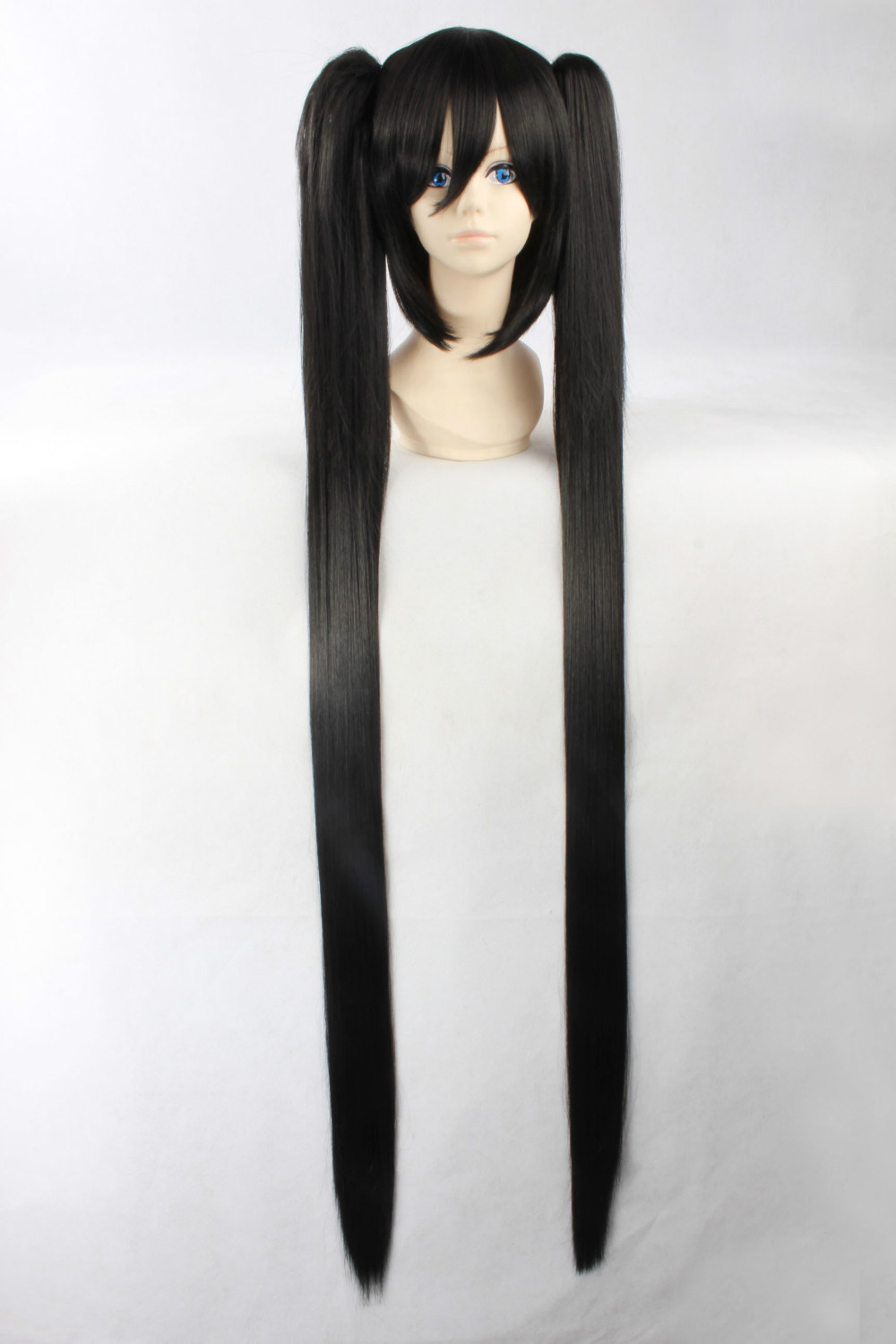 120cm Black Long Straight Heat Resistance Cosplay Costume Wig,Chip on Hair<br><br>Aliexpress
