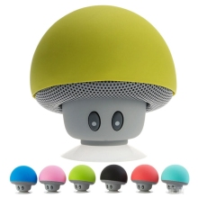 100pcs/Lot Wireless Bluetooth Speaker Heavy Bass Stereo Music Player Portable Mini Mushroom Speaker Cute Loudspeaker Suction Cup