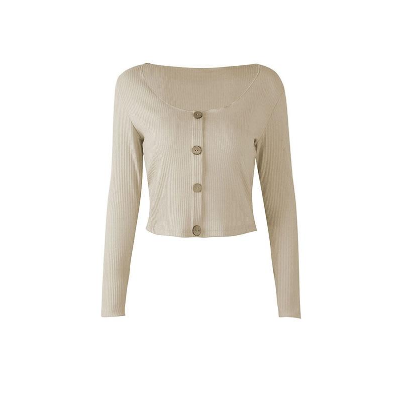 Crop Top Women Long Sleeve Button O-neck Spring Summer T Shirt Women Sexy Camiseta Mujer Women Tshirt Tee Shirt Femme 2019 Tops230