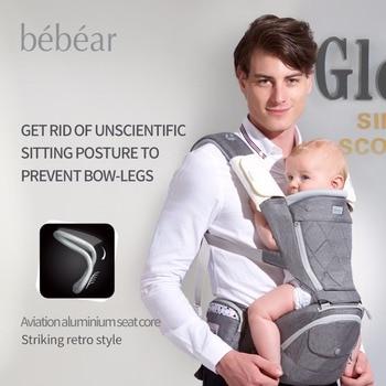Bebear nueva hipseat para prevenir o-tipo patas de aluminio de la aviación núcleo ergonómico portabebés manduca mochilas kid abrigo de la honda