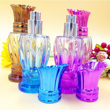 50ml Glass Perfume Atomizer Refillable Color Pump Spray Bottle Makeup Cosmetic Container Empty Travel Bottle Case 10pcs/lot 347