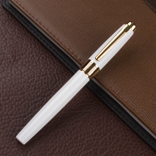 4 Colors Executive White and Golden M Nib Rollerball Pen High Quality Hot Selling luxury writing gift pens
