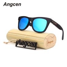 Angcen wood Sunglasses Fashion Gafas Bamboo Wooden Sunglasses Men Women Brand Designer Sports Oculos DB78(China)