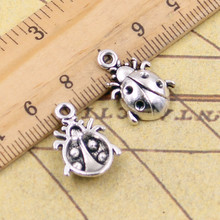 Buy 10pcs Charms ladybug bug 19*13mm Tibetan Silver Plated Pendants Antique Jewelry Making DIY Handmade Craft for $1.20 in AliExpress store