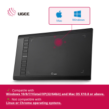 "Ugee M708 Digital Tablet Graphics Tablet for Drawing ""10x6''Painting Pad 2048 Level Graphic Tablet Usb Digital Pens with Glove"