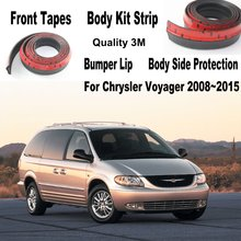 For Chrysler For Lancia Voyager Car Bumper Lips / Spoiler Car Tuning / Body Kit Strip Front Tapes / Body Chassis Side Protection