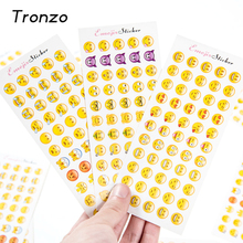 Tronzo 12 Sheets/Pack 660 Die Emoji Sticker Smile Face Stickers For Birthday Party Decoration Gifs Box Label(China)