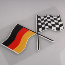 BBQ@FUKA Auto car Germany German Checkred Flag Emblem Badge Styling film Sticker Fit for univercal car(China)