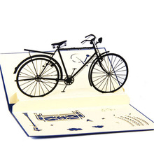 3D Pop Up Handmade Cards Bicycle Halloween Happy Birthday Thank You Christmas Gift Postcard