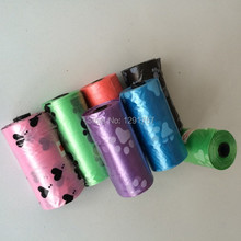 150pcs= 10 Rolls Pet Dog Biodegradable Waste Pooper Scoopers Bags on Board Wholesale Pet Supplier free shipping