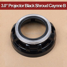 3 inches hid bi xenon projector lens shroud high temp resistant Black Caynne type B for auto headlight